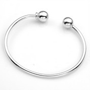 Sterling Silver Bracelet for Beads and Charms