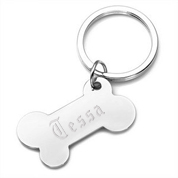Puppy Love Dog Bone Custom Keychains