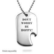 Bottle Opener Stainless Large Dog Tag & Chain
