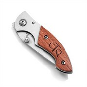 Personalized Mini Pocket Knife with Rosewood Handle
