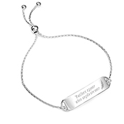 Personalized Sterling Silver Friendship Bracelet
