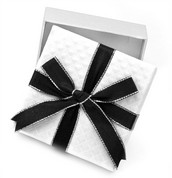 Small White Gift Box with Bow