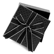 Small Black Gift Box with Bow