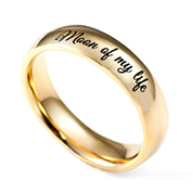 Polished Shine Gold Engraved Rings