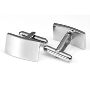 Polished Stainless Cuff Links