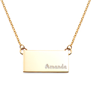 Pretty in Gold Custom Bar Necklace