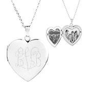 Pretty Silver Personalized Locket Necklace
