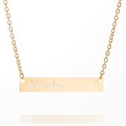 Engravable Gold Bar Necklace