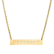 Golden Custom Engraved Latitude Longitude Necklace for Her