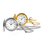 Charles-Hubert Paris Pocket Watch Chrome or 14K Gold Finish