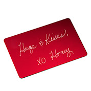Red Handwriting Gifts Wallet Card