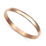 Rose Gold Engraved Bangle Bracelet