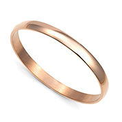 Rose Gold Engraved Bangle Bracelet - 65mm Diameter 8 Inch