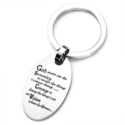 Serenity Prayer Engraved Keychain