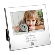 Silver Personalized Picture Frame for 4 x 6 Photo