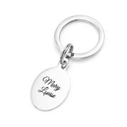 Simply Oval Engraved Keychains