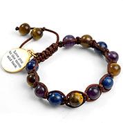 Galen Macrame Gemstone Bracelet