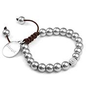 Dana Silver Adjustable Macrame Personalized Bracelet