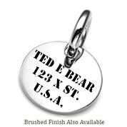 SM Engraved Stainless ID Tag for Purses, Pets, & More