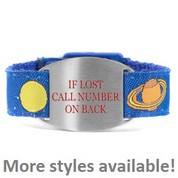 Snap-Lock Bracelets with Safety ID Tags for Kids