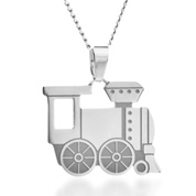 Steel Train Custom Childrens Necklace