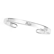Sterling Silver Engraved Cuff Bracelet 5.25mm
