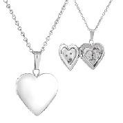 Sterling Silver Girls Engraved Locket Necklace