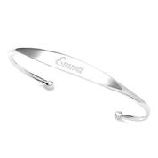 Sterling Silver Personalized Cuff Bangle