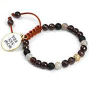 Talia Adjustable Agate And Garnet Bracelet
