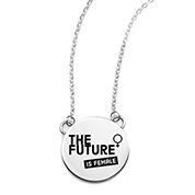 The Future is Female Engraved Necklace