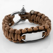 Brown Paracord Survival Screw Clasp Bracelet SM