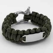 Green Paracord Survival Screw Clasp Bracelet MD