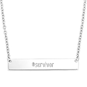 True Elegance Personalized Sterling Silver Bar Necklace