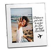 Vertical Silver Engraved Picture Frame for 4 x 6 Photos