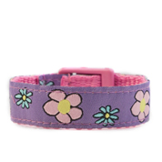 Flower Garden Strap for Slide On ID Tags LG Fits 4 - 8 Inch