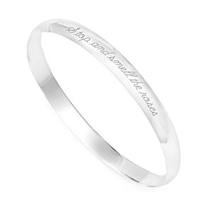 Emily Sterling Silver Bangle Bracelet