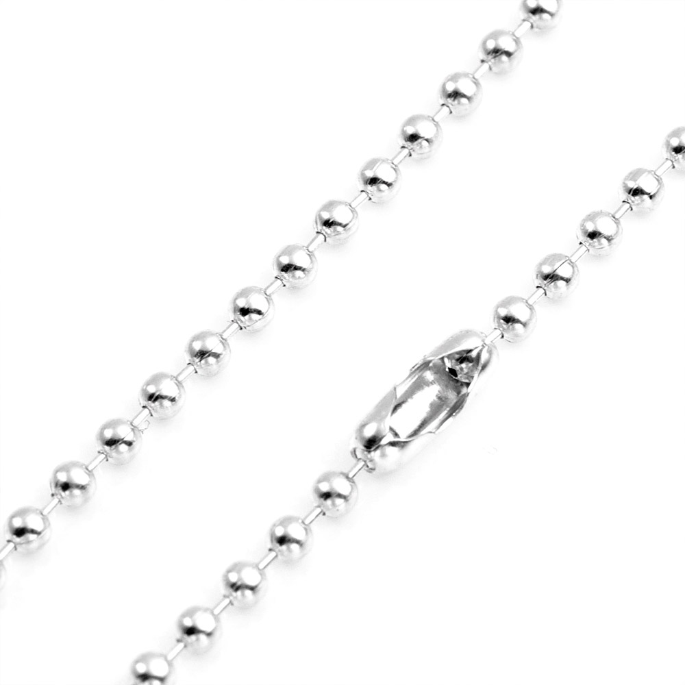 2.3mm Sterling Bead Chain 10 inch