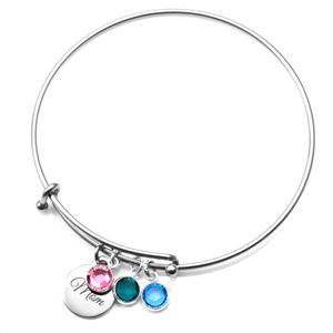 Personalized Birthstone Jewelry Charm Bracelet