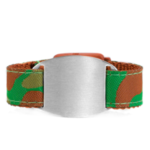 Childrens Camouflage ID Bracelet Fits 4 - 8 Inch