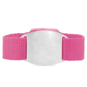 Adult & Child Pink ID Bracelet Fits 4 - 8 Inch