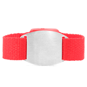 Adult & Child Red ID Bracelet Fits 4 - 8 Inch