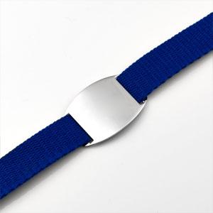 Adult & Child Blue ID Bracelet Fits 4 - 8 Inch