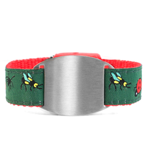 Childs Bugs ID Bracelet Fits 4 - 8 Inch