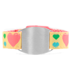 Childrens Hearts ID Bracelet  Fits 4 - 8 Inch