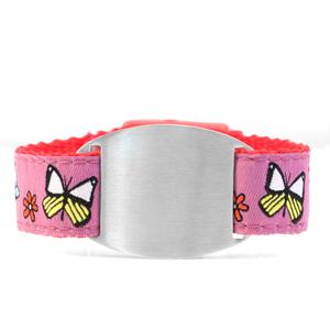 Kids Butterfly ID Bracelet Fits 4 - 8 Inch