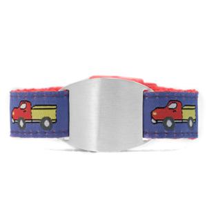 Childs Blue Trucks ID Bracelet Tag Fits 4 - 8 Inch