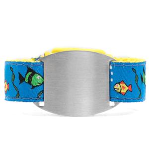 Kids Fish ID Bracelet Fits 4 - 8 Inch