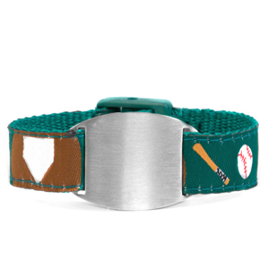 Childs Baseball ID Bracelet Fits 4 - 8 Inch