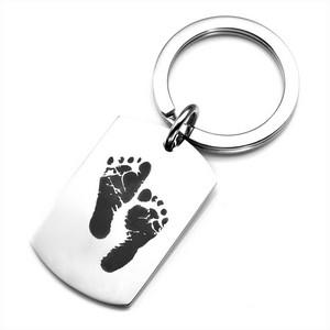 Baby Footprints Custom Keychains