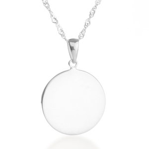 Lovely Chic Engraved Sterling Silver Necklaces